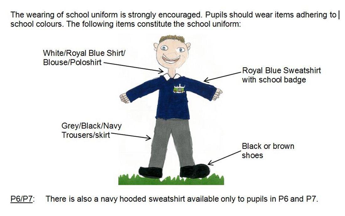 school uniform with description